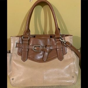 Tignanello Women's Two Tone Leather Bag